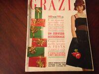 GRAZIA Rivista Magazine 10 Dicembre 1961 n.1086 Speciale Natale Saturnia Trieste