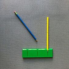 Vintage 1970s Abs-Plast Denmark Green Danish MCM Modern Pencil Holder Lego