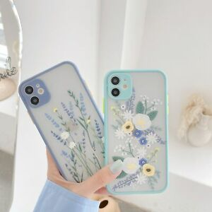 Case For iPhone 7 8 Plus XR 11 Pro Max X XS SE Shockproof Flower Phone Cover