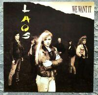Laos - We want it - Vinyl LP - 1990 Germany Teldec 9031-70802-1