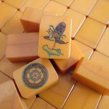 Vtg, Chinese Catalin Resin Crackle, 148 Tiles, Mahjong Set Mah Jongg Bakelite