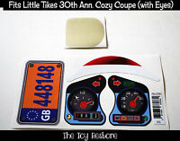 Replacement Decals fits 30th Anniversay Little Tikes Cozy Coupe Car With Eyes UK