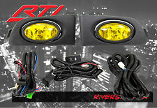 01-03 Honda Civic 2/4 dr EM ES JDM Yellow Fog Light Kit EX DX LX Coupe Sedan
