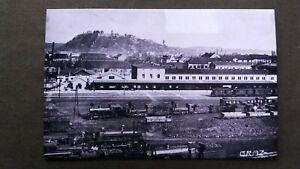 7443 Pressefoto GRAZ - Bahnhof mit Dampfmotiven um 1930 / 1