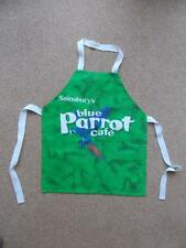 Childs Small Sainsbury's Blue Parrot Cafe Cooking Baking Art APRON Fabric