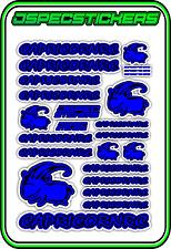 CAPRICORN RC STICKER A5 LAB 1/8 F1 1/10 TESLA ELECTRIC NITRO CAR HARD DRK BLU B