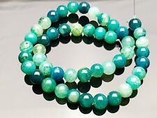 Achat Agate Edelstein Perlen grün rund Kugel Gemstone beads Dragon Veins 8 mm