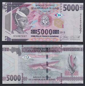 Guinea 5000 francs guinéens 2015 FDS/UNC  C-08