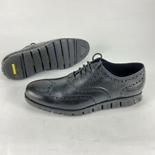 NEW Cole Haan Zerogrand Leather Wingtip Shoes 11 Wide Black C20719 NWOB