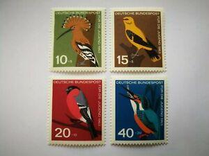 Colorful: Germany. Domestic Birds - Bund BRD Michel 401-404** Heimische Vögel