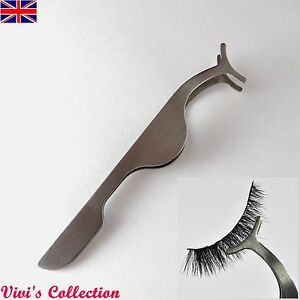 False Eyelash Eye Lash Applicator Tool Tweezers Cosmetic Makeup Clip UK