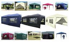 Falt Pavillon 100% WASSERDICHT Pavillion Gartenzelt Dachmaß 3x3 m oder 3x6 m