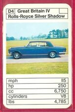 1970's/80's ACE TRUMP GAME Great Britain Sers ROLLS-ROYCE SILVER SHADOW CARD #D4