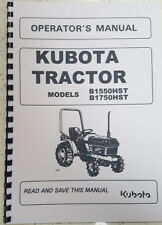 More details for kubota b1550hst b1750hst tractor operator manual reprinted comb bound