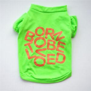 Small Pet Dog Apparel Vest Puppy Cat Coat Clothes T-shirt Summer Apparel XS~L