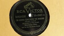 Wilf Carter (Montana Slim) - 78rpm single 10-inch - RCA Victor #20-2927