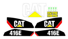 Caterpillar 416E Backhoe Decal / Adhesive / Sticker Complete Set