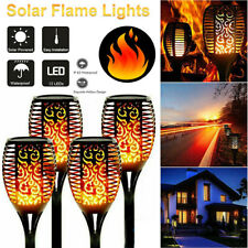 More details for 4pcs solar power led torch lamp waterproof flickering flame dancing party light