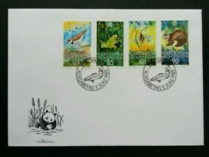 [SJ] Liechtenstein WWF 1989 Frog Birds Insect Wildlife Fish Panda (FDC *see scan