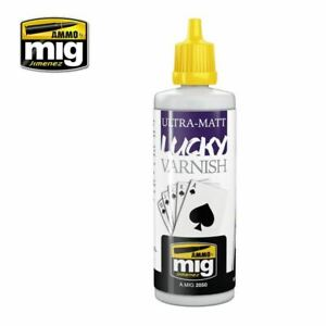 Ammo by Mig Ultra-Matt Lucky Varnish 60ml bottle