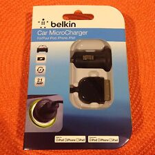 Belkin Car MicroCharger w/ ChargeSync Cable - Black*