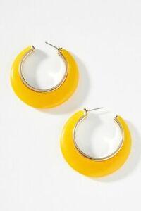 NWT Anthropologie Limona Hoop Earrings - MSRP $48