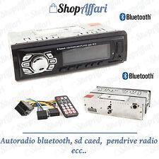 STEREO AUTO AUTORADIO bluetooth MP3 MP4 SD USB AUX  FRONTALINO fisso pendrive