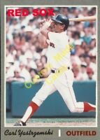 Custom made Topps 1970 Boston Red Sox Carl Yastrzemski baseball card
