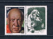 Poland 1981 Birth Centenary of Pablo Picasso stamp + label o/FU SG 2719 Artists