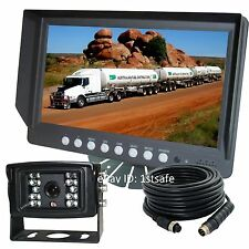 "9"" REAR VIEW BACK UP CAMERA FOR FARM TRACTORS, DIGITAL WATERPROOF AG"