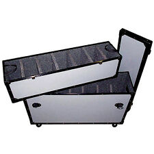 TUFFBOX ROAD CASE for PARs- LEDs - 12 Removeable Dividers - Top Tray - Casters