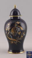 99840187 Grande Kobalt-Deckel-Vase Decorazione Dorata Jaeger Marktredwitz