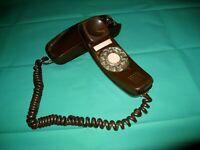 Vintage ITT Slim Line Rotary Phone Brown