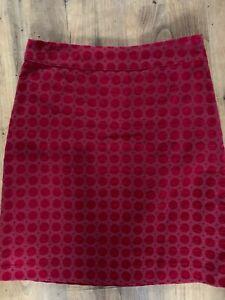 White Stuff Immaculate  Cotton Velvet Skirt  10 Rrp £55