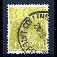 Australia 1926-30 4d Giallo Oliva. PERF 13.5x12.5. SG 102. bene. USATO (BH525)