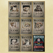 [Set (9x)] HOCHAUFLÖSENDE One Piece Wanted Poster [42x30cm], steckbriefe anime