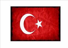 Turco INVECCHIATO FLAG segno METALLO STILE VINTAGE BANDIERA segno GUAM Stile Bandiera