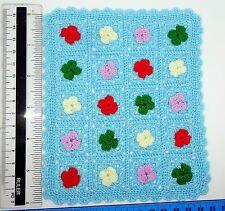 1:12 Scale Multi Colour Crochet Cover Bed  Doll House Miniature Accessory PF
