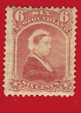 1870 Newfoundland Queen Victoria Postage Stamp 6 Cents Scott # 35