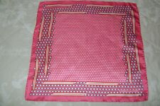 "Hand made Macclesfield silk pocket square 18"" hand rolled strobelight pink"