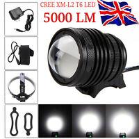 5000LM CREE XML T6 LED Head Lamp Bike Bicycle Front Light Headlight Flashlight