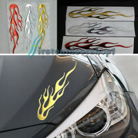 Car Motorcycle 3D Flame Fire Reflective Sticker Vinyl Decal Individualized Gold