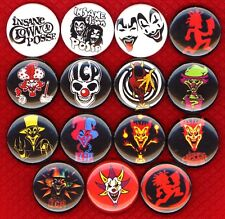 ICP Insane Clown Posse 15 NEW pins badges buttons juggalo hatchet man gathering