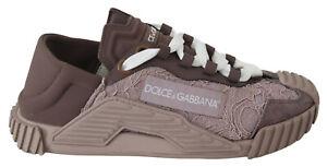 DOLCE & GABBANA Shoes Nude Tubular Lace Rubberised Womens Sneakers EU36.5 / US6