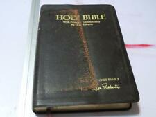 Holy Bible KJV With Personal Commentary by Oral Roberts Black Genuine Leather