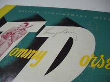 Tommy Dorsey Signed Record Album + 15 Other Sinatures of Big Band Greats