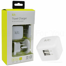 Kit 3.4A Dual USB EU/UK/US Mains Wall Travel Charger Smartphone Tablet Adapter