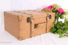 Retro Lederkoffer Oldtimerkoffer Kolonial Stil Koffer 3 Größen / M / Vintage L