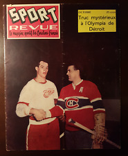 Sport Revue Magazine - October 1956 - Howe/Richard cover