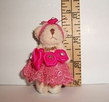 FASHION DOLL MINIATURE DRESSED TEDDY BEAR TOY 1/6 SCALE LITTLES DOLLHOUSE